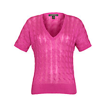 Buy Lauren by Ralph Lauren Short Sleeve V-Neck Jumper Online at johnlewis.com