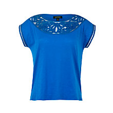 Buy Lauren by Ralph Lauren Crochet Neck Top, Aegean Blue Online at johnlewis.com