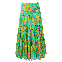 Buy Lauren by Ralph Lauren Tiered Skirt, Green Multi Online at johnlewis.com