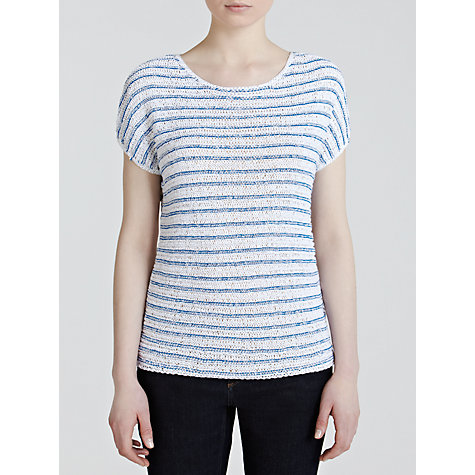 Buy Lauren by Ralph Lauren Dolman Crew Neck Jumper, White/Aegean Blue Online at johnlewis.com