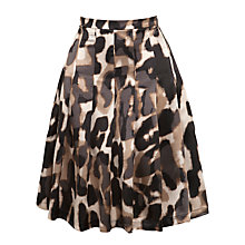 Buy Weekend by MaxMara Abstract Animal Print Skirt, Camel Online at johnlewis.com