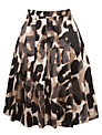 Weekend by MaxMara Abstract Animal Print Skirt, Camel