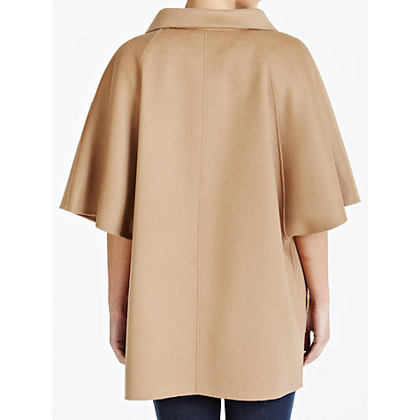 Buy Weekend by MaxMara Wool Cape Coat, Camel Online at johnlewis.com