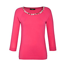 Buy Weekend by MaxMara Embellished Neck Jumper Online at johnlewis.com