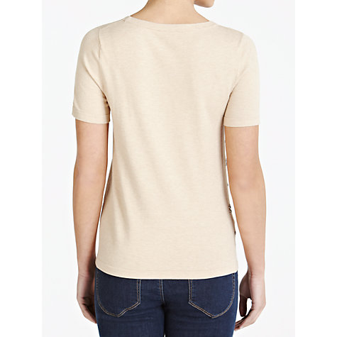 Buy Weekend by MaxMara Embellished Sleeve Top, Camel Online at johnlewis.com
