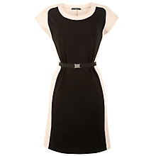 Buy Weekend by MaxMara Heavy Jersey Colour Block Dress, Camel/Black Online at johnlewis.com