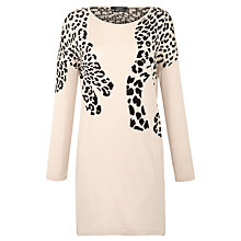 Buy Weekend by MaxMara Leopard Intarsia Jumper Dress, Camel Online at johnlewis.com