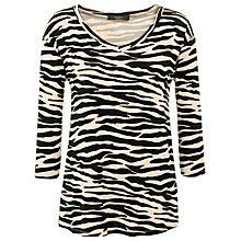 Buy Weekend by MaxMara Jersey Leopard Print T-Shirt, Khaki Online at johnlewis.com