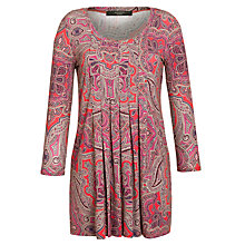 Buy Weekend by MaxMara Long Sleeve Paisley Print Tunic, Orange Online at johnlewis.com