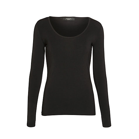 Buy Weekend by MaxMara Scoop Neck 3/4 Sleeve T-Shirt, Black Online at johnlewis.com