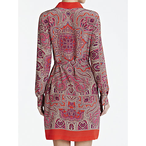 Buy Weekend by MaxMara Silk Paisley Shirt Dress, Red Print Online at johnlewis.com