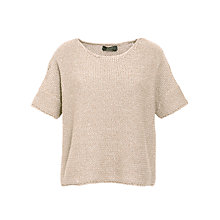 Buy Weekend by MaxMara Sparkle Knitted Jumper, Camel Online at johnlewis.com