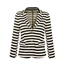 Buy Weekend by MaxMara Jersey Striped Jacket, Camel/Black Online at johnlewis.com