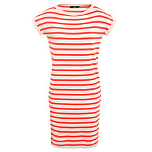 Buy Weekend by MaxMara Stripe Knitted Dress, Beige Online at johnlewis.com