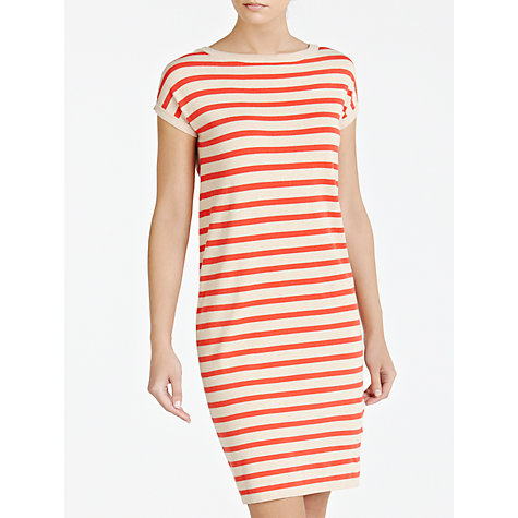 Buy Weekend by MaxMara Stripe Knitted Dress, Pink Online at johnlewis.com
