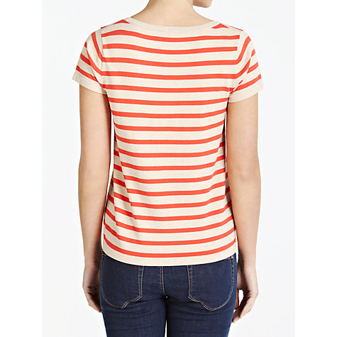 Buy Weekend by MaxMara Stripe Scoop Neck Jumper, Orange/Beige Online at johnlewis.com