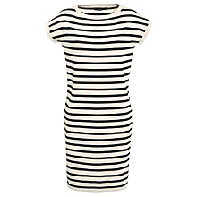 Buy Weekend by MaxMara Stripy Knitted Dress, Camel/Black Online at johnlewis.com
