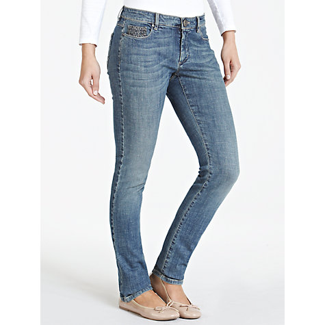 Buy Weekend by MaxMara Embellished Pocket Jeans, Ultramarine Online at johnlewis.com