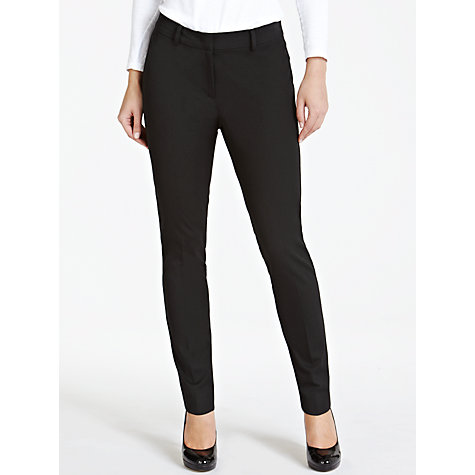 Buy Weekend by MaxMara Slim Leg Ankle Trousers, Black Online at johnlewis.com