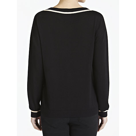 Buy Weekend by MaxMara Zebra Intarsia Jumper, Black Online at johnlewis.com