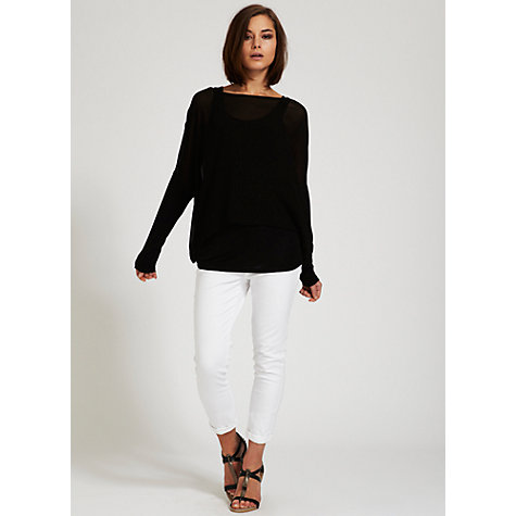 Buy Mint Velvet Double Layer Top Online at johnlewis.com