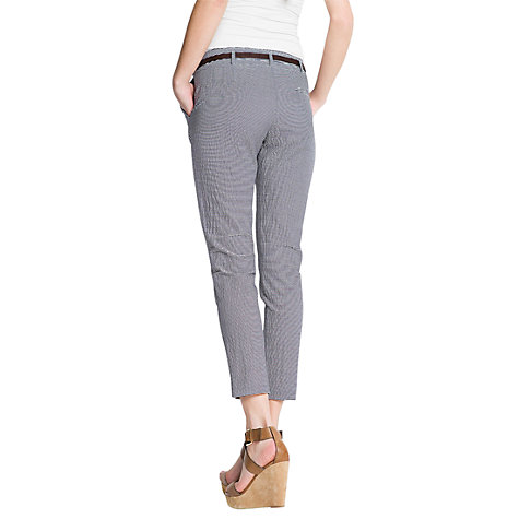 Buy Mango Striped Seersucker Trousers Online at johnlewis.com