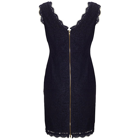 Buy Adrianna Papell Sleeveless Lace Dress, Navy Online at johnlewis.com