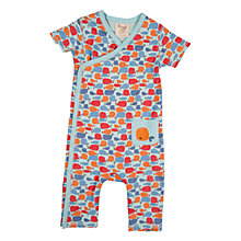Buy Frugi Baby Whale Kimono Organic Cotton Romper, Multi Online at johnlewis.com