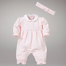 Buy Emile et Rose Betsy Three Pleat Sleepsuit, Pink Online at johnlewis.com