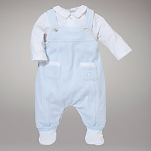 Buy Emile et Rose Velour Dungaree Set, Blue Online at johnlewis.com