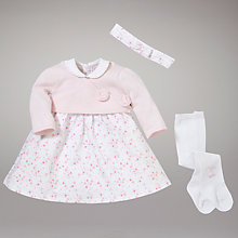 Buy Emile et Rose Floral Dress with Ballet Cardigan and Tights, Pink Online at johnlewis.com