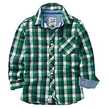 Buy Crew Clothing Boys' Clarke Checked Long Sleeved Shirt, Green/Blue Online at johnlewis.com