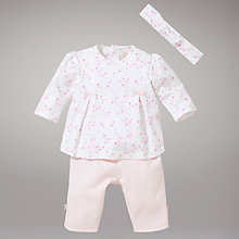 Buy Emile et Rose Floral Top with Trousers and Headband, Pink Online at johnlewis.com