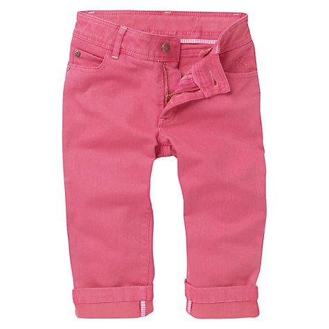Buy Crew Clothing Girls' Lucia Carpi Trousers, Pink Online at johnlewis.com