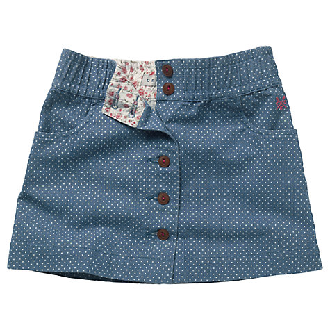 Buy Crew Clothing Girls' Pamela Polka Dot Denim Skirt Online at johnlewis.com