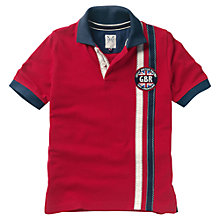 Buy Crew Clothing Boys' Jonathan Racing Polo Shirt, Red Online at johnlewis.com