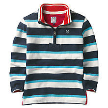 Buy Crew Clothing Boys' Kennedy Pique Striped Jumper Online at johnlewis.com