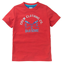 Buy Crew Clothing Boys' Ronan T-Shirt, Red Online at johnlewis.com