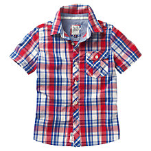 Buy Crew Clothing Boys' Ernest Shirt, Red/Blue Online at johnlewis.com