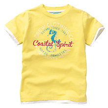Buy Crew Clothing Girls' Mirabelle T-Shirt, Lemon Online at johnlewis.com