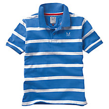 Buy Crew Clothing Boys' Timothy Striped Polo Shirt, Blue/White Online at johnlewis.com