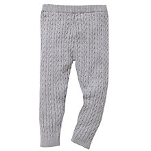 Buy John Lewis Cable Knit Leggings, Grey Online at johnlewis.com