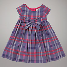 Buy John Lewis Check Cotton Dress, Purple Online at johnlewis.com