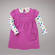 Buy John Lewis Baby Curdoroy Pinafore Dress, Pink Online at johnlewis.com