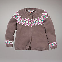 Buy John Lewis Fair Isle Cardigan, Brown Online at johnlewis.com