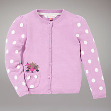 Buy John Lewis Hedgehog Cardigan, Pink Online at johnlewis.com