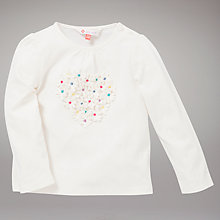 Buy John Lewis 3D Heart T-Shirt, Cream Online at johnlewis.com