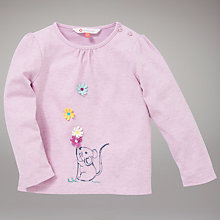Buy John Lewis Mouse T-Shirt, Pink Online at johnlewis.com