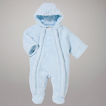 Buy Emile et Rose Teddy Pramsuit, Blue Online at johnlewis.com