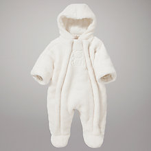 Buy Emile et Rose Teddy Pramsuit, Cream Online at johnlewis.com